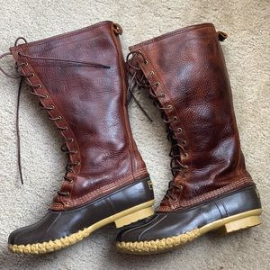 L.L.Bean Signature Tumbled-Leather Boots, 16""